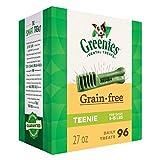 CANINE GREENIES Grain-Free TEENIE Natural Dental Dog Treats (96 Treats) 27oz. Pack
