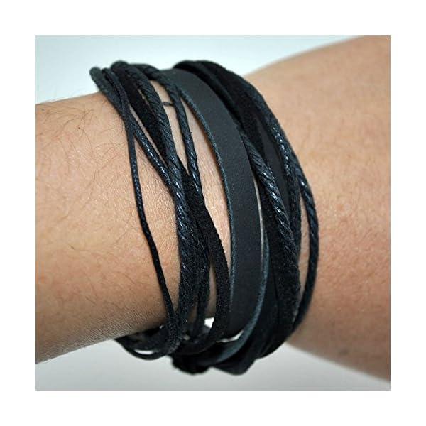 FRD.2Y Genuine Multilayer Unisex Leather Bracelet 4