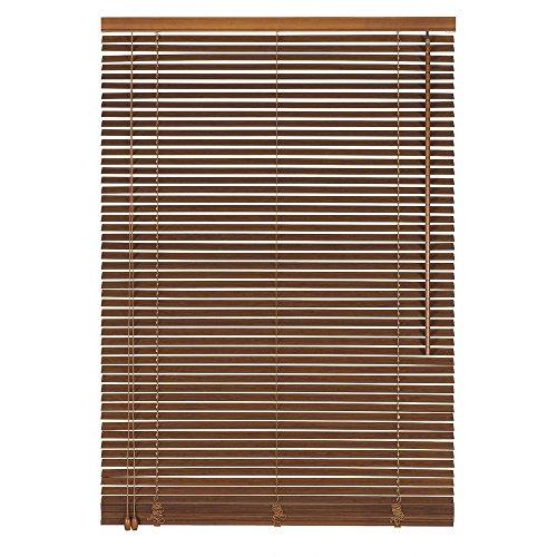 Easy-Shadow Holzjalousie Holz-Jalousie Bambus Jalousette Echtholz Rollo Jalousette 55 x 140 cm / 55x140 cm in Farbe teak - Bedienseite links // Maßanfertigung