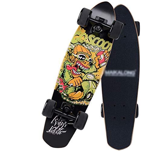 Kleine visplank dubbele wip groot visbord professioneel skateboard esdoorn bananenboard D
