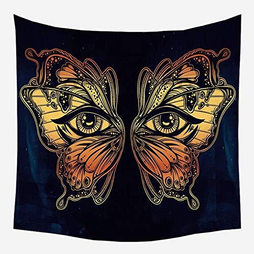 Mandala tapiz brujería colgante de pared decoración boho astrología sol psicodélico tela de fondo A19 130x150cm
