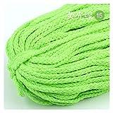 Cuerda de escalada 5m / lote Cuerda de algodón colorido de 5 mm Cuerda torcida de alta tenacidad Macrame DIY DIY TEXTIL CRAFT WOVEN HERND DECORACIÓN DE LA COMERCIA TOUW Cuerda de escape, equipo de esc