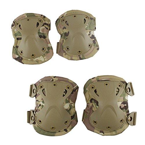 sharprepublic Verstellbare Knieschützer Und Ellbogenschützer Protective Gear Safety Guard Kit - Camo C, 16 cm