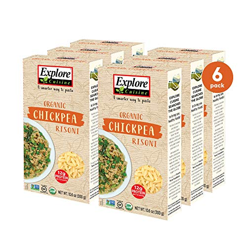 Explore Cuisine Organic Chickpea Risoni (6 Pack) - 10.6 oz - Easy to Make Gluten-Free Pasta - High Protein - USDA Certified Organic, Non-GMO, Vegan, Kosher - 16 Total Servings - 30 Total Servings