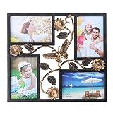 IMIKEYA - Marco de fotos de collage para pared de 4 aperturas de collage para colgar en la pared, marco de fotos múltiple para la familia, sala de estar, pared, computadora, decoración
