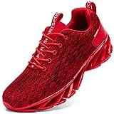 Kefuwu Zapatos de Running para Hombre Transpirables Aire Libre y Deportes Correr Asfalto Casual para Deportivas de Malla(Rojo 45)