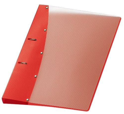 Veloflex 1141420 Ringordner Diamond, Ringbuch, Ordner, DIN A4, 2-Ring-Mechanik, 20 mm, PP-Vollkunststoff, rot