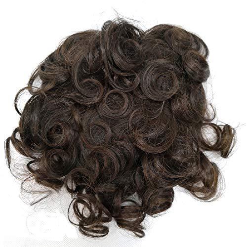 Cheveux humains Top pièce de remplacement Couronne Wiglet Clip en décoration pour cheveux avec frange extension pour femme couvrant Cheveux Fins par P