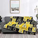 Flannel Fleece Appalachian State University Blanket Ultra Soft is Allergy Resistant and Does Not Peel Off for All Season Adult Child Warm Camping