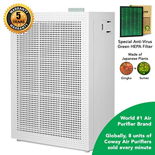 Coway Professional Air-Purifier, Special Green Anti-Virus True HEPA Filter (AirMega 150 (AP-1019C))