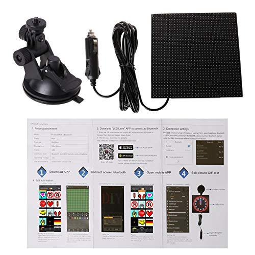 JIACUO farbenreiches drahtloses Bluetooth APP-Steuerauto LED-Bildschirm, der LED-Zeichen, Fahranweisung, Bild-GIF-Licht verzeichnet