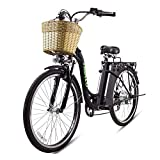 NAKTO 26' Electric Bike 6 Speed Ebike, 250W High Speed Electric Bicycle with 36V 10Ah Lithium Battery