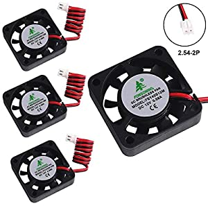 4pcs 3D Printer Fan 12V 0.08A DC Mini Quiet Cooling Fan 40X40X10mm with 28cm Cable for 3D Printer, DVR, and Other Small Appliances Series Repair Replacement