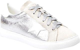 Womens Fashion Star Sneakers Shoes Platform Glitter...