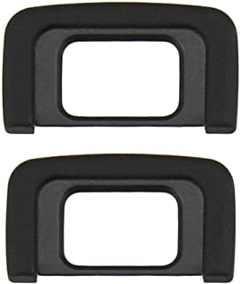 HomyWord 2 piezas Negro Ocular Visor para Nikon D5600 D5500 D5400 D5300 D5200 D5100 D5000 D3400 D3300 D3200 D3100 D3000 Reemplaza a Nikon DK-25