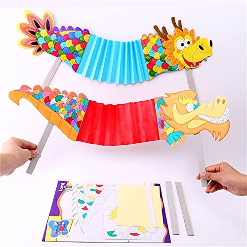 TLBBJ Juguetes artesanales Hecho a Mano DIY Dragon Dragon Kindergarten Craft Juguete para NIÃ'OS...