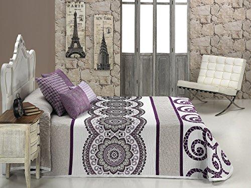 Textilia Colcha cubrecama, para Cama de 150 250 x 270 cms, Lila, 250 x 270 cm