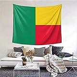 AOOEDM Benin Flagge Wandteppich für Schlafzimmer Wohnzimmer Wohnheim Wandbehang Wohnkultur Wandteppiche 60 × 51 Zoll