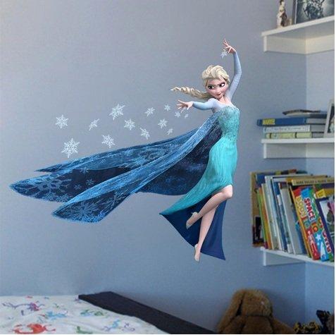 Gefroren einstellen Elsa Die Eisprinzessin Wandaufkleber Kindergarten Kinder Schlafzimmer Entfernbarer Wandaufkleber Wandgemälde Abziehbild Dekor Baby Dekoration Elsa The Ice Princess Frozen