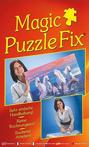 Magic Puzzle Fix - Der innovative Puzzle-Kleber: Transparente Spezialhaftfolien | Einfach, sauber & Sicher! Geeignet für alle Puzzleformate!…