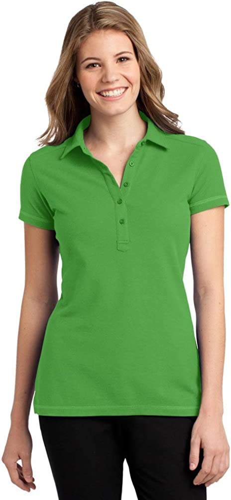 Port Authority Ladies Modern Stain-Resistant Polo, Vine Green, X-Small