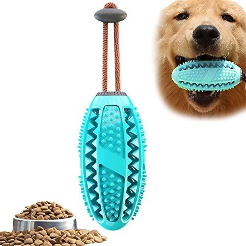Hundespielzeug, Hund Zahnbürsten-Stick, Hundezahnbürste Kauspielzeug unzerstörbar, Naturgummi Zahnreinigung Rugbyball-Spender für Zahnpflege,große/mittelgroße/kleine Hunde
