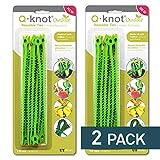 UT Wire Q Knot Outdoor Garden Reusable Tie - (Green) 2 Packs …