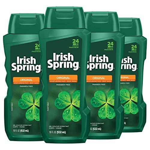 Irish Spring Original Body Wash for Men - 18 Fl Oz (Pack of 4)