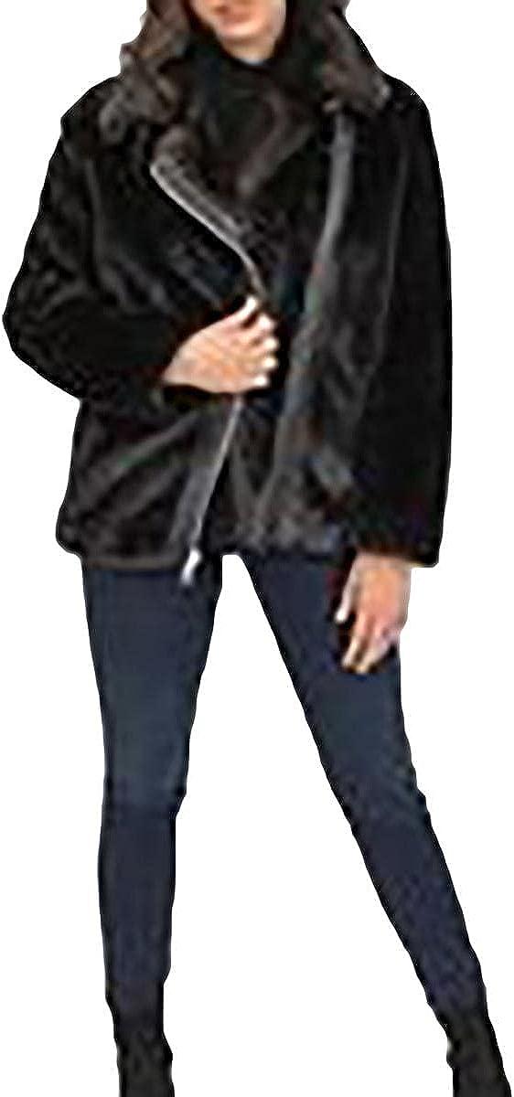 KENDALL + KYLIE Women's Faux Mink Jacket