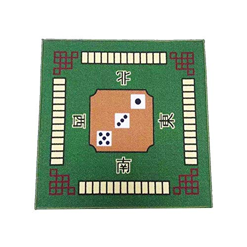 Mahjong Spieltischdecke, quadratisch, für Poker, Kartenspiele, Brettspiele, Fliesen, Dominosteine, Mahjong-Matte für Familienpartys, Requisiten, 78 x 78 cm