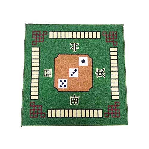 Mahjong Spieltischdecke, quadratisch, Tischdecke, Poker, Kartenspiele, Brettspiele, Dominosteine, Mahjong-Matte für Familienfeier, Spiel-Requisiten, 78 cm x 78 cm, grün, Einheitsgröße