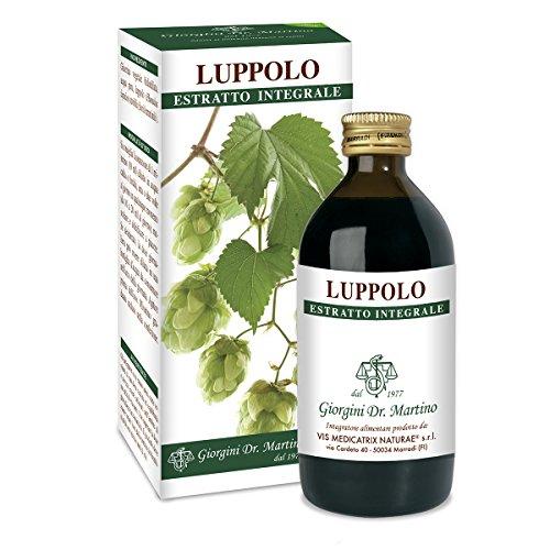 Dr. Giorgini Integratore Alimentare, Luppolo Estratto Integrale Liquido Analcoolico - 200 ml