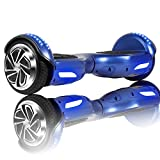 Huanhui Skateboard Électrique 6.5 Pouces Puissance 600W avec LED, Gyropode Auto-Équilibrage de Bonne qualité pour Enfants et Adultes