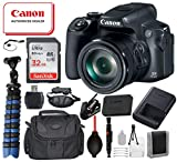 "Canon PowerShot SX70 HS Digital Camera (Black) 3071C001 with Bundle Package Deal –SanDisk 32gb SD Card + Camera Bag + 12"" Gripster Tripod and More"