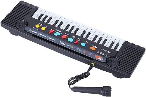 hasta 60% de descuento HM2 37 37 37 Teclas Teclado electrónico Piano Música Juguete con micrófono Mini Piano eléctrico Multifuncional, para bebés bebés - negro  disfrutando de sus compras