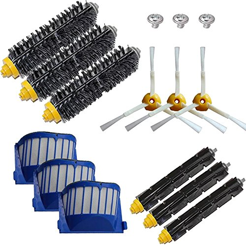ANBOO for iRobot Roomba Brush Replacement Parts 650, 620,655,595 620 630 645 650 655 660 Robotic Vacuum Cleaner Replenishment Parts,12 pcs 600 Series Accessories