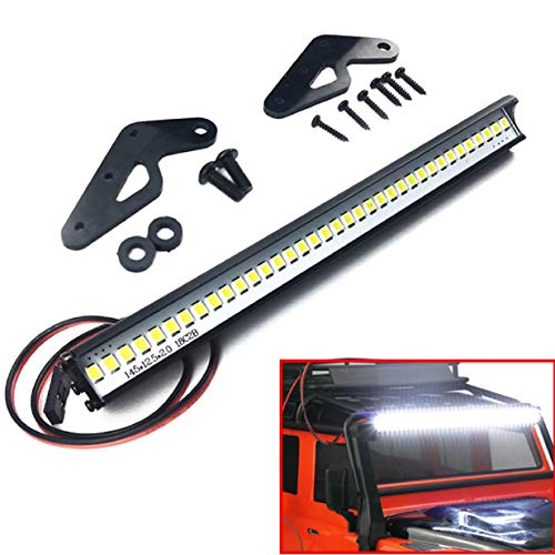 ShareGoo Super Bright 36 LED Light Bar Metal Roof Lamp Lights for Traxxas TRX-4 90046 D90 Axial SCX10 1/10 RC Crawler,150mm/5.9""