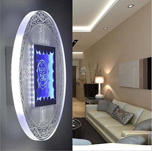 NIHE Acrylique lampes LED chambre vie bouton créatif circulaire mur