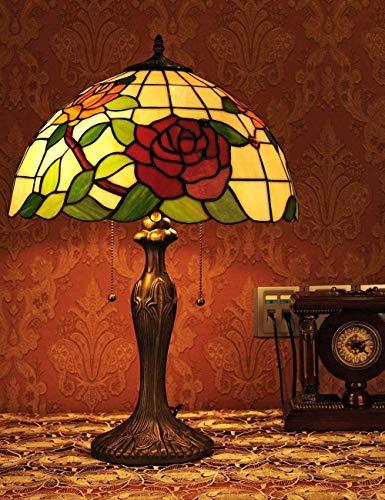 GXY Lámpara de Mesa de Cristal, Diseño de Dormitorio Ligero de 16...