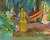 Pintura por números al óleo Kits de pintura Lienzo digital Arte la pared Pinturas Decoraciones Regalos(16X20 In) sin marco-Henri Lebasque - Hamaca 1923