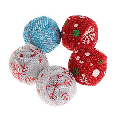 YOURPAI Puzzle, 5 Stück, Katzenspielzeug, Weihnachtsball, Katzenminze, Haustiere, Kätzchen, interaktiv, lustiges Zubehör