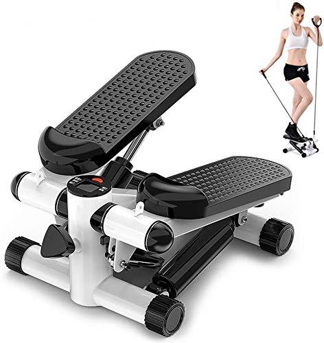 DPPAN Máquina de Step Swing, Ajustable Stepper Fitness Mini Stepper con...