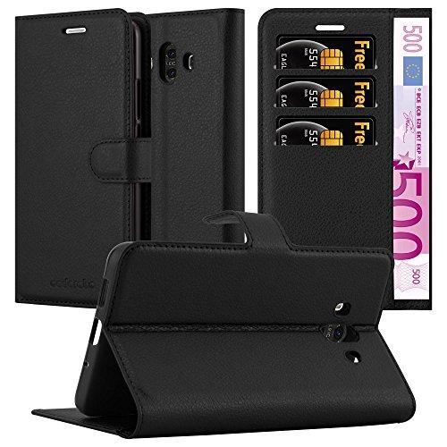 Cadorabo Funda Libro para Huawei Mate 10 en Negro Fantasma - Cubierta Proteccíon con Cierre Magnético, Tarjetero y Función de Suporte - Etui Case Cover Carcasa