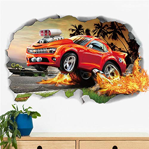 PISKLIU Muurstickers 3D Diy Cartoon Dier Aap Vliegtuigen Auto's Snelweg Track Bloemen Muurstickers Kids Kamers Sticker Slaapkamer Decor Mural Art Pvc