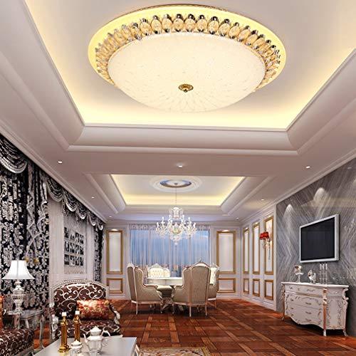 OMGPFR Cristallo Plafoniera LED dimmerabile Lusso Classico Creativo oscuramento Lampada da soffitto Luci Rotonde per Studio Soggiorno Sala da Pranzo Camera da Letto Illuminazione,60cm