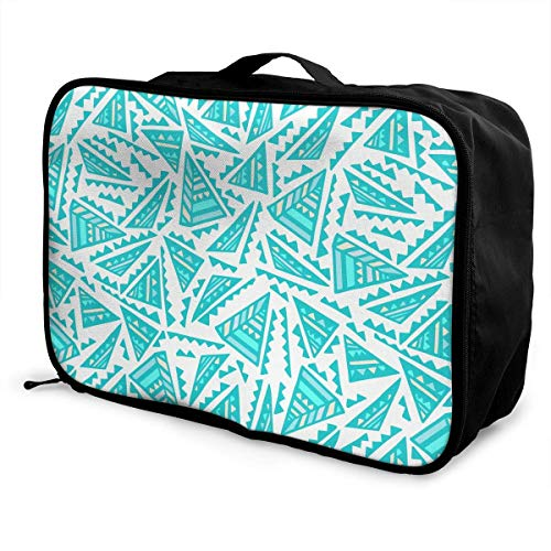 Qurbet Bolsas de Viaje, Colorful Triangles Pattern Overnight Carry On Luggage Waterproof...