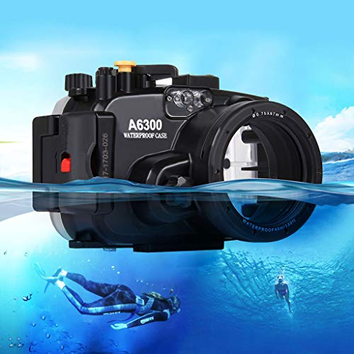 Uplord 40m Underwater Swimming Diving Waterproof Camera Case Diving Protective Housing Shell for Sony A6300,Diving Shell+O Seal+Cleaning Cloth+Hand Strap