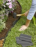 Easy No- Dig, Pound-in, Interlocking Landscaping Edging Kit 8' Tall, 20' Long