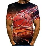 SSBZYES Camisetas para Hombre Camisetas De Cuello Redondo para Hombre Camisetas De Gran Tamaño para Hombre Camisetas Estampadas Rojas Camisetas Sueltas De Verano para Hombre
