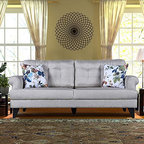 HomeTown Paddington Plus Fabric Three Sofa in Beige Color